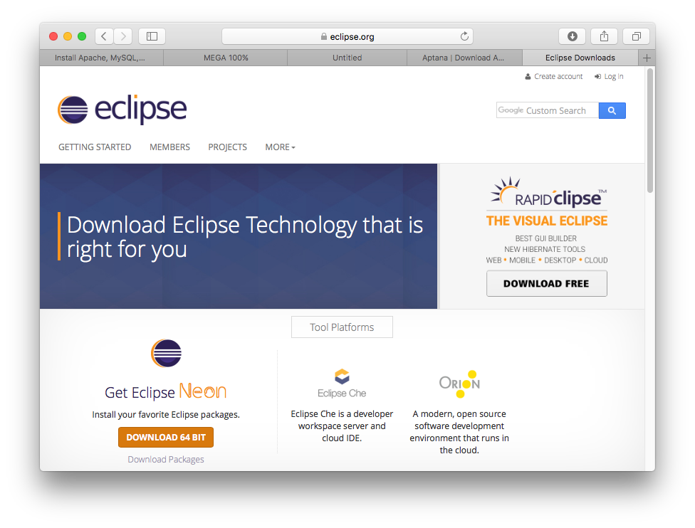 Development of Android applications with Eclipse (part 1